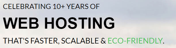 GreenGeeks Eco Friendly Hosting