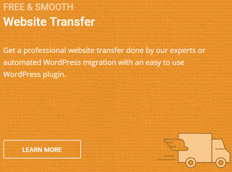 SiteGround Free Website Transfer